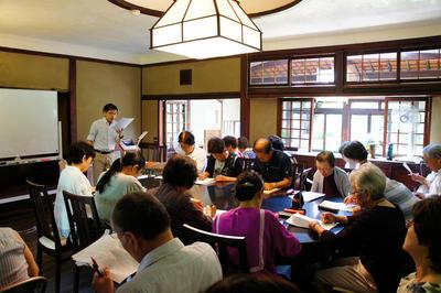 志賀直哉旧居特別講座 白樺サロンの会第3回「泉鏡花と〈奈良〉―『紫障子』を読む―」を開催