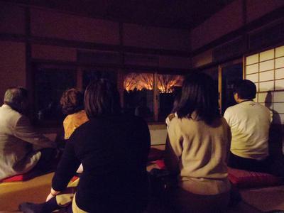 若草山の山焼き鑑賞会を開催