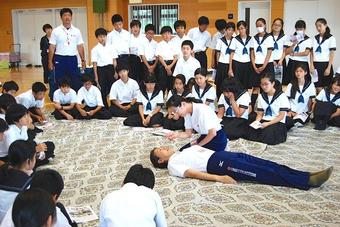 M3生(中1)が救急救命法講習を受講しました