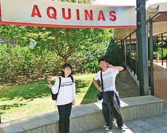 Y2学年の2名がターム留学に出発しました