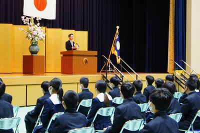 令和3年度奈良学園登美ヶ丘中学校入学式を挙行しました