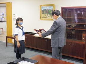 M1生が「学校法人奈良学園栄誉賞」を受賞しました