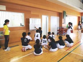 クラブ活動風景「バスケットボール部」