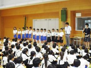 P生 二学期代表委員任命式
