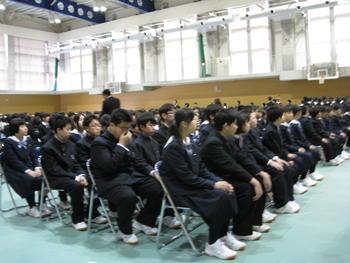 【古川】中学校・高等学校入学式