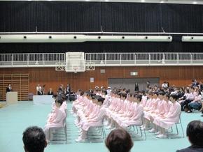 奈良文化高校「戴帽式」
