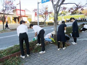 秋の一日~ふれあい清掃・生徒大会~