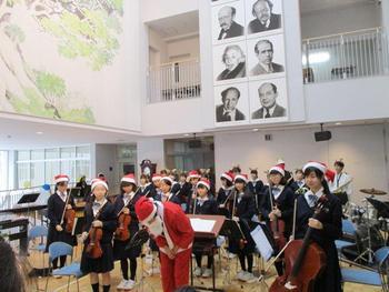 2学期MY終業式・室内楽部クリスマスコンサート