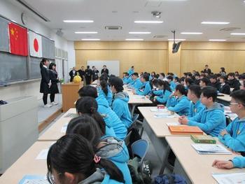 中国からの訪問団との交流