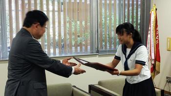 奈良登美生、奈良学園栄誉賞に輝く!