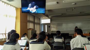 教育実習生の研究授業を参観しました