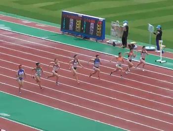 近畿インターハイ陸上競技女子100m優勝、全国インターハイへ!!
