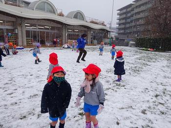 この冬初の積雪でした!