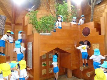 年長児夏の園外保育(森の工作館)①